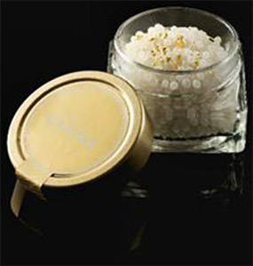 White Caviar with Edible Gold Leaf Flakes 24K